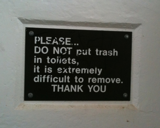 Trash In The Toilet