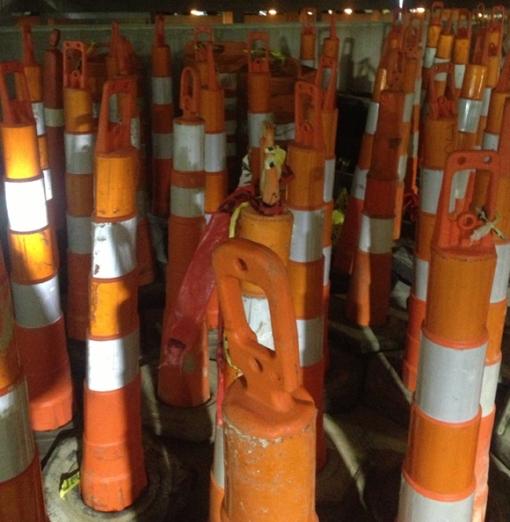 3-22 2013 Orange Construction Cones