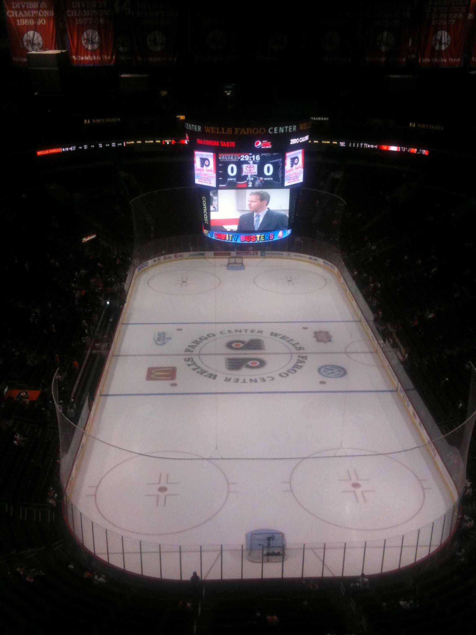 A hockey rink reflects an external boundary.