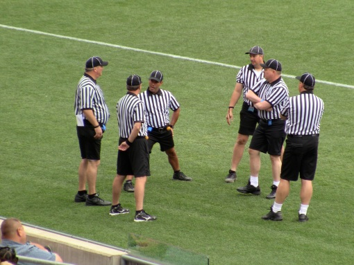 The referees are a self-organizing team.
