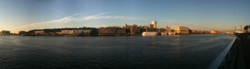 The Savannah River flows on by!