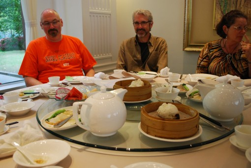 Testing Dim Sum in Beijing.