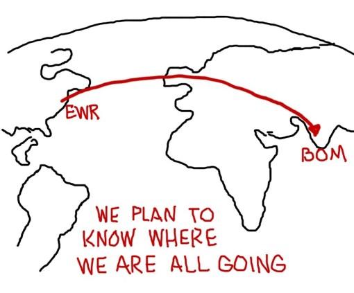 EWR to BOM