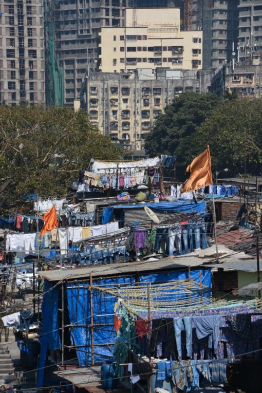 Dharavi slums in Mumbai, India