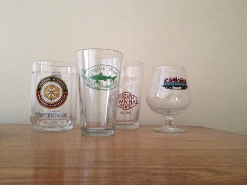 Logo beer glasses come in all shapes and sizes!