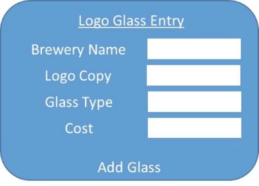 Logo Glass Entry Screen