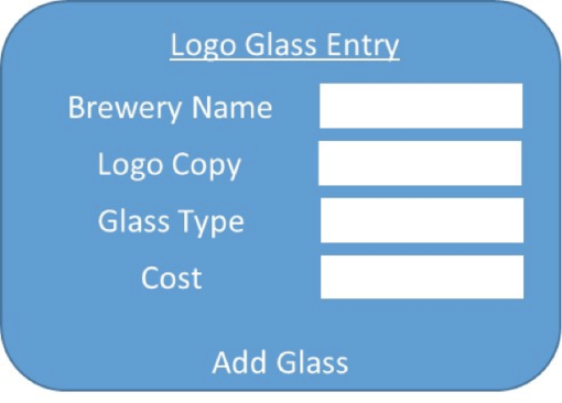 Logo Glass Entry Screen