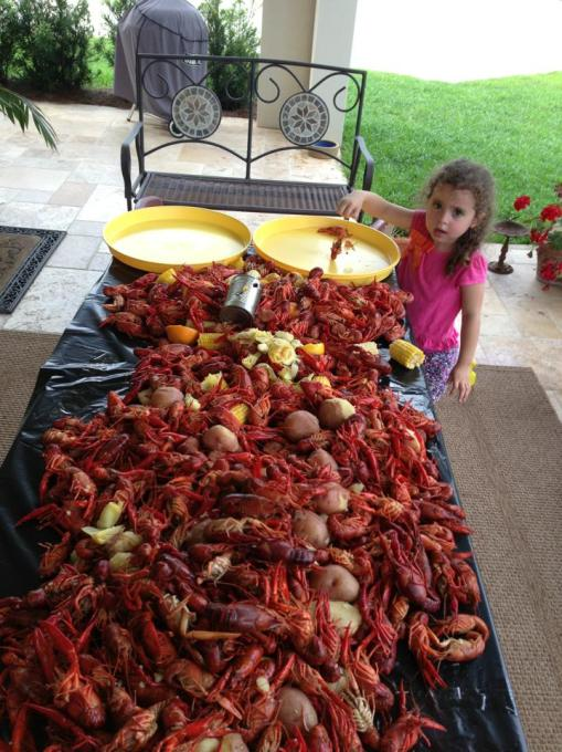 Do I budget, estimate or plan the number of crawfish I am going to eat?