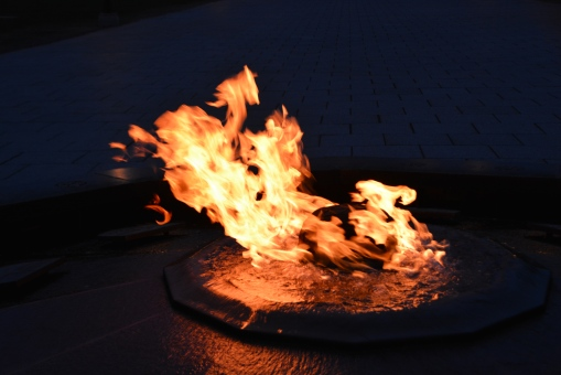 An eternal flame is a statement of values like a manifesto.