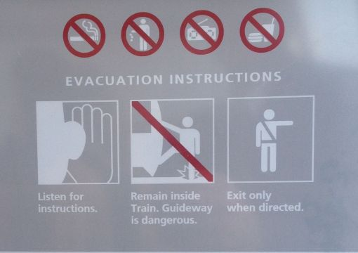 The evacuation instructions could be a form of paper prototype.