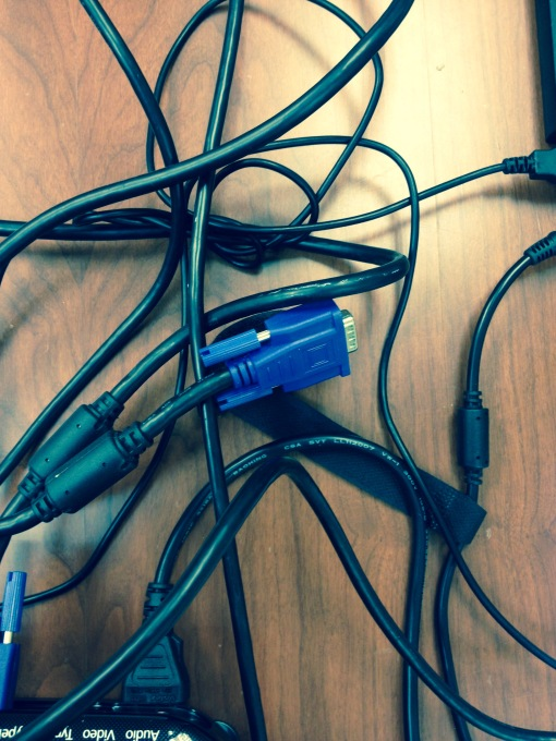 Risk management is like sorting out the cords.