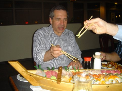 One on the product owner's roles is to buy the pizza (or the sushi!)