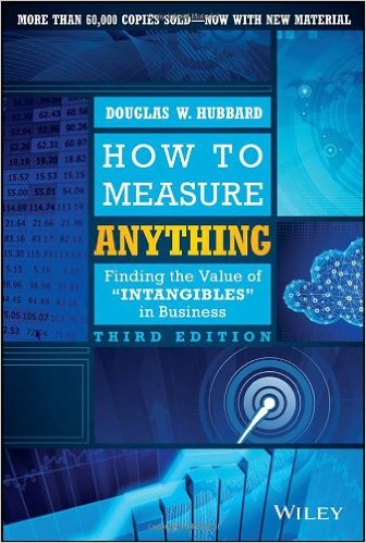 """How to Measure Anything, Finding the Value of """"Intangibles in Business"""" Third Edition"""