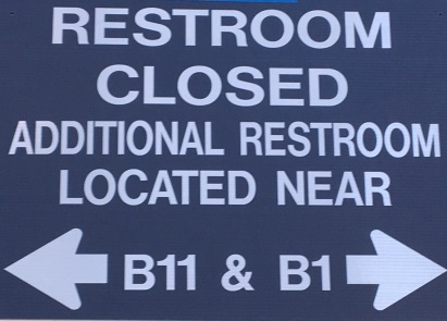 Restroom Closed Sign