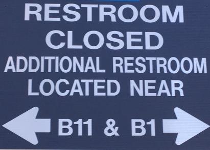 Restroom Closed Sign