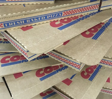 A pile of empty pizza boxes!