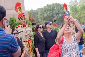 Crowd at Delhi War Memorial