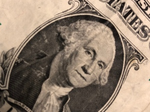 Picture of George Washington on dollar bill