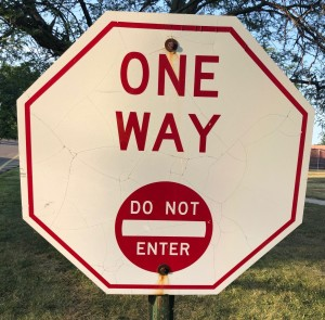 One Way Stop Sign