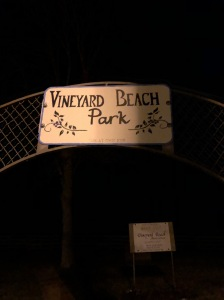Vineyard Beach Park Sign